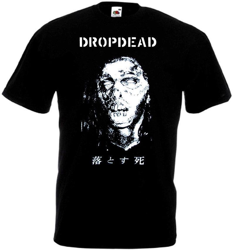 Dropdead <font><b>V8</b></font> <font><b>T</b></font> <font><b>Shirt</b></font> Black Hardcore Punk Grindcore All Sizes S 3Xl 100% Cotton Short Sleeve O Neck Top Tee <font><b>T</b></font> <font><b>Shirt</b></font> Plus Size image