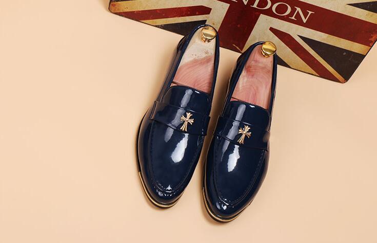 Homens Preto Designer 2018 Lc2886 Moda azul amarelo Sapatos Genuíno Novo Estilo Formais Mens Vestir Casamento Couro De Luxo Flats 2 Escritório qSgAB