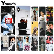 Yinuoda ASAP Rocky Rapper Transparent Soft Shell Phone Cover for Apple iPhone 8 7 6 6S Plus X XS MAX 5 5S SE XR