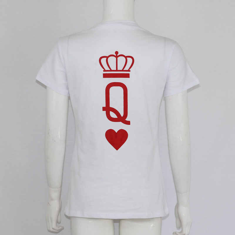 7a5f00812f ... New Men Women Couple King and Queen Crown Poker Printing T Shirt Summer  2018 Tumblr Funny ...