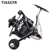 TIASCFR Spinning Angeln Reel Metall 14 + 1BB XS1000 7000 Serie Wasser Widerstand Ultra Licht Reel High Getriebe Verhältnis Spinnrad