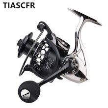 Tiascfrスピニングリール金属14 + 1BB XS1000 7000シリーズ水抵抗超軽量リール高ギア比糸車