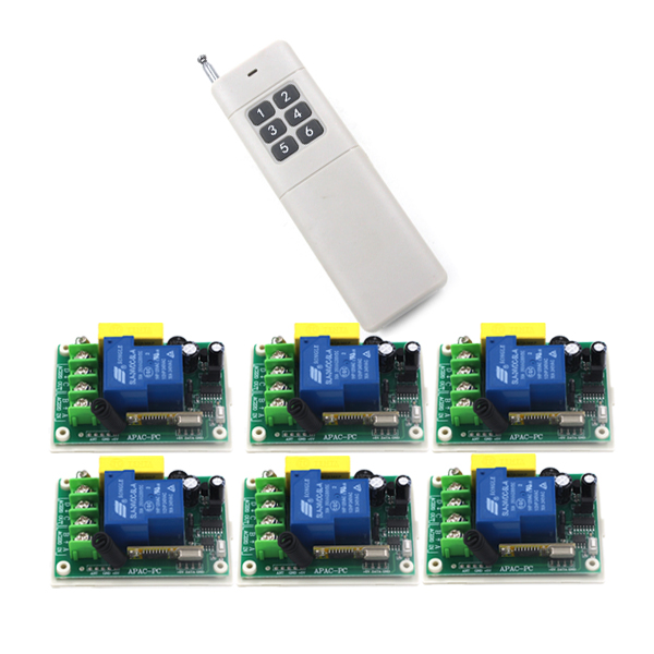 New AC 220V 30A relay 1CH channel wireless RF Remote Control Switch Transmitter and Receiver for Wireless system SKU: 5244 dc12v 10a rf remote control switch system 1ch 1 channel relay 3 x wireless receiver and 1x transmitter sku 5378