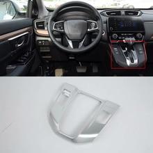 Car Accessories Interior Decoration ABS Matte LHD Gear Shift Panel Cover Trim For Honda CRV 2018 Car Styling car styling 1pcs abs matte interior front center gear panel cover trim for hyundai kona 2017 2018 left hand drive