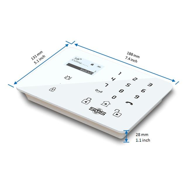 Allarme GSM Touch Wireless APP Control GSM Home Alarm System Burglar Access Wired Siren Door Sensor PIR Detector 433MHz K9D