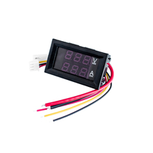 Dc 100v 1a 10a 50a 100a mini 0.28 polegadas led dc voltímetro digital amperímetro voltímetro medidor amperemeter tensão/amperimétrico