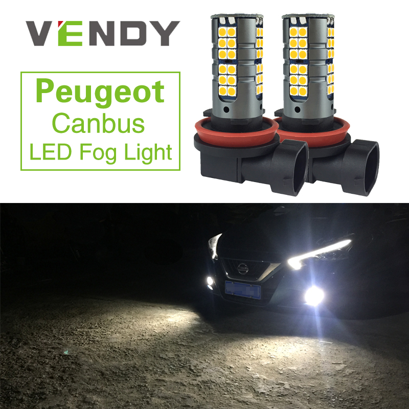 2x H8 H11 Fog Light High Power Canbus Error Free LED Car Auto Bulb <font><b>Lamp</b></font> For <font><b>Peugeot</b></font> 307 206 <font><b>301</b></font> 207 2008 508 4008 3008 308 408 image