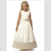 558f88016a81 Hot Sale First Communion Dresses 2018 White Girls Pageant Dresses Vintage  Ivory Satin Flower Girl Dresses For Wedding With Belt