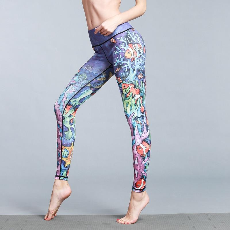 Nasinaya Yoga Pantalons Sport Leggings Femme Fille Haute Élastique Fitness Collants Mince de Course Sport Gym Leggings Impression 45