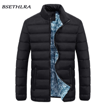 BSETHLRA 2017 Autumn Winter Parka Men Windbreak Mens Coats And Jackets Cotton Zipper Comfortable Solid Fashion Brand Clothing