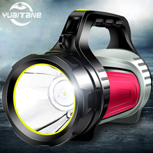 цена на LED Flashlight Searchlight Built-in 4500mAh Handed Portable USB Rechargeable Torch Searchlights Multi-function Long Shots Lamp