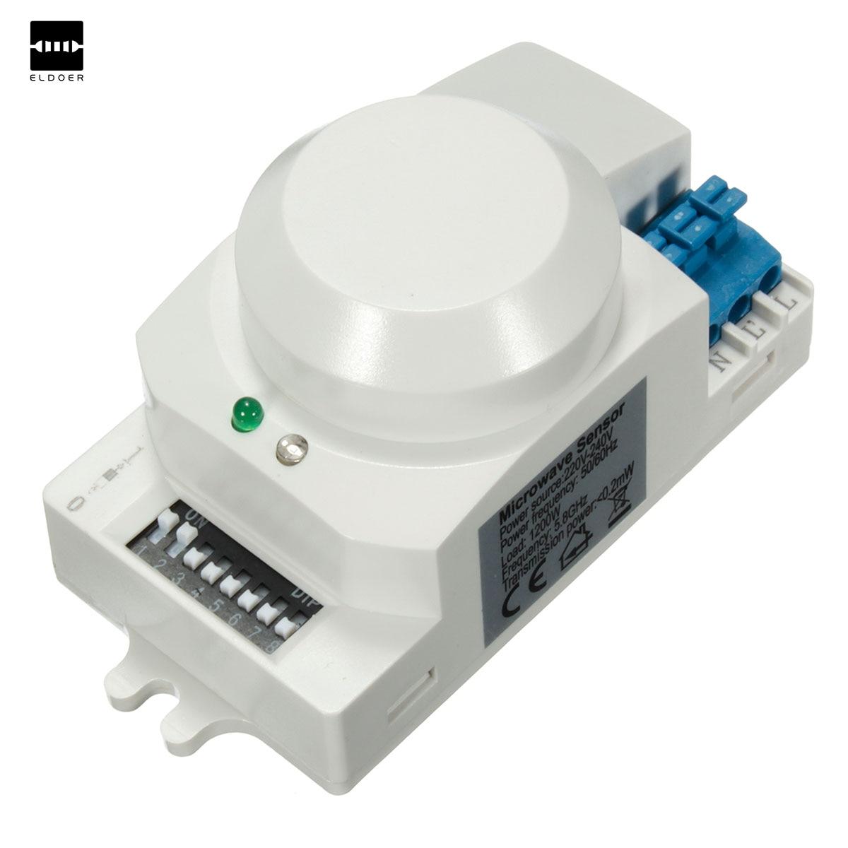 New Electric High Frequency AC 220V-240V 5.8GHz Microwave Radar Sensor Body Motion HF Detector Light Switch Sensors 85x38x40mmNew Electric High Frequency AC 220V-240V 5.8GHz Microwave Radar Sensor Body Motion HF Detector Light Switch Sensors 85x38x40mm