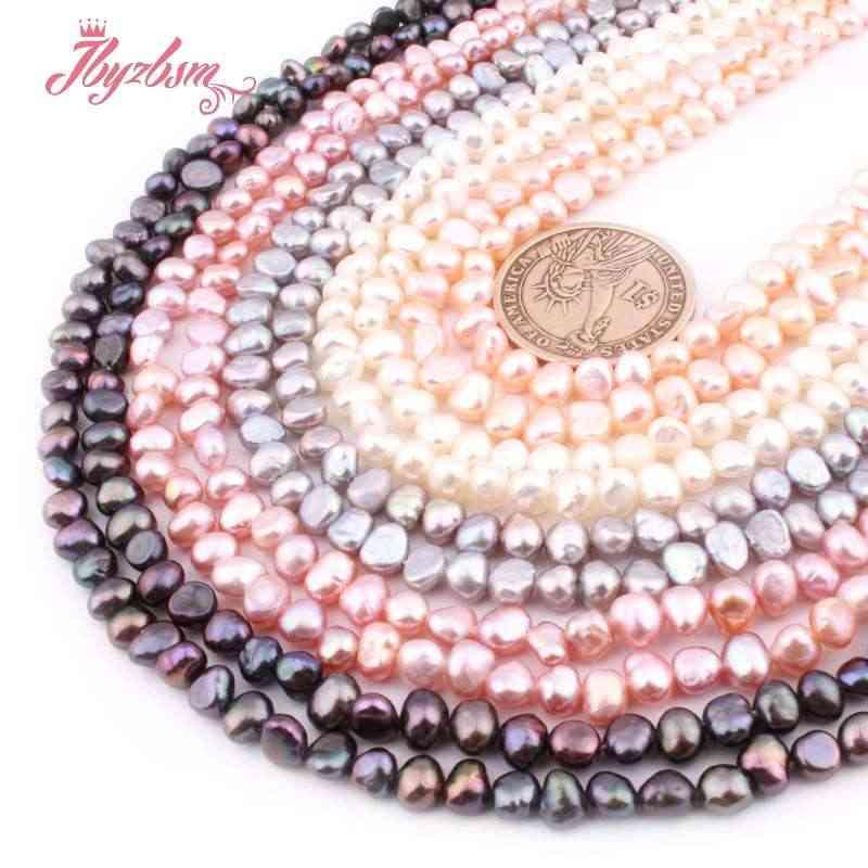 """3-4.5mm Irregolare Perla D'acqua Dolce Naturale Perline di Pietra Per La Collana FAI DA TE Bracciali Orecchini Monili Che Fanno 14.5"""""""