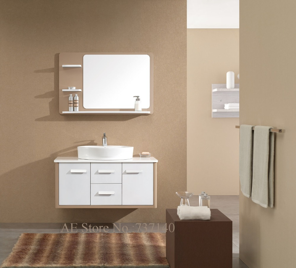 Modern white furniture bathroom cabinet with ceramic basin wall mounted bathroom vanities furniture buying agent wholesale price