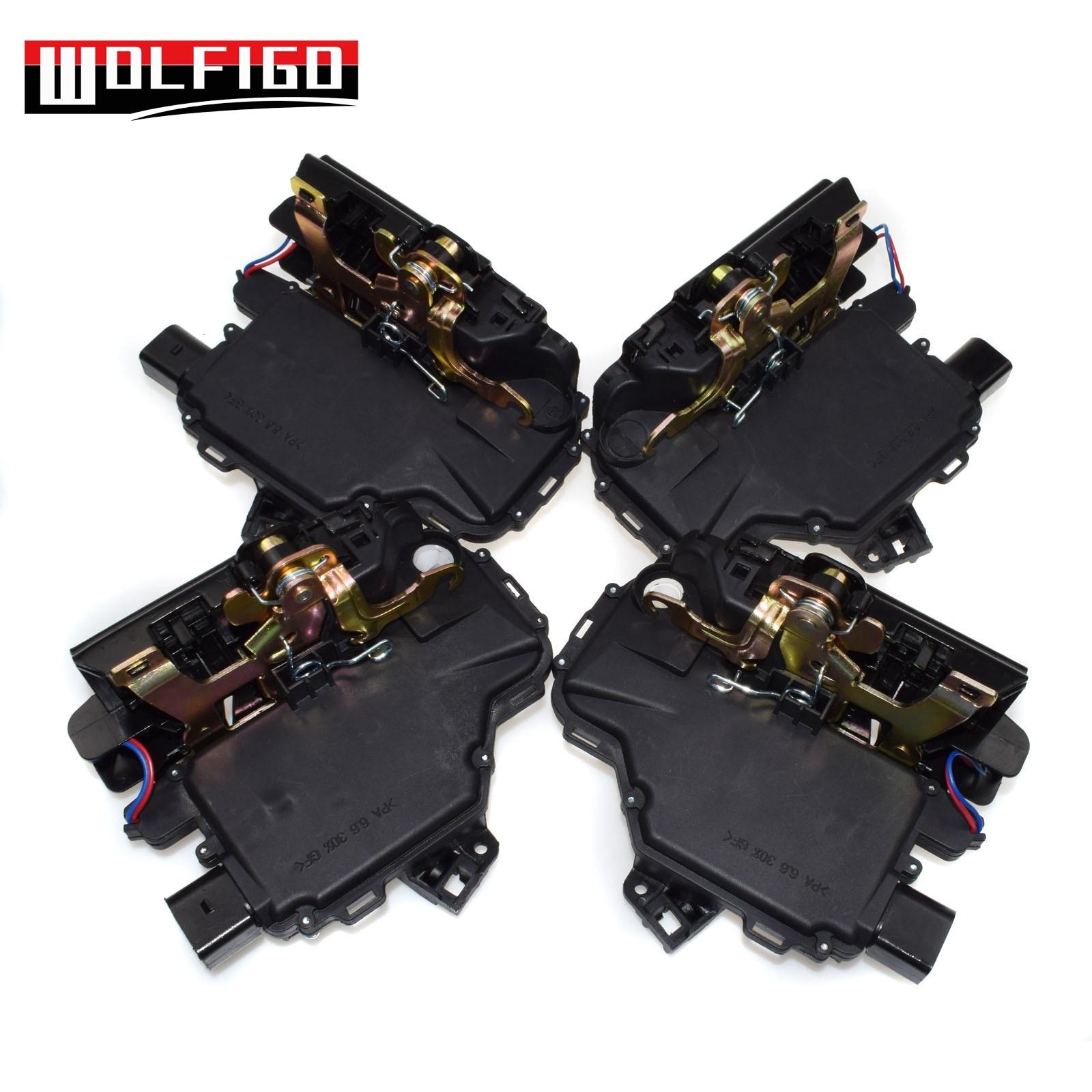 WOLFIGO Door Lock Latch Actuators Front Rear Left Right for Passat B5 Golf MK4 3B1837015A,3B1837016A,3B4839015A,3B4839016A