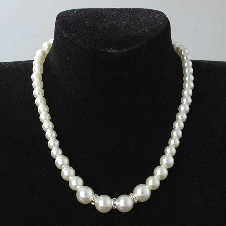New high-quality European and American classic shambhala crystal pearl necklace earrings set