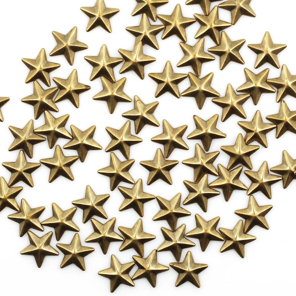 10 мм 200 шт. Горячая фиксация, стразы из горного хрусталя Star Форма Панк Шпильки и шипы для Костюмы Diy аксессуары star15
