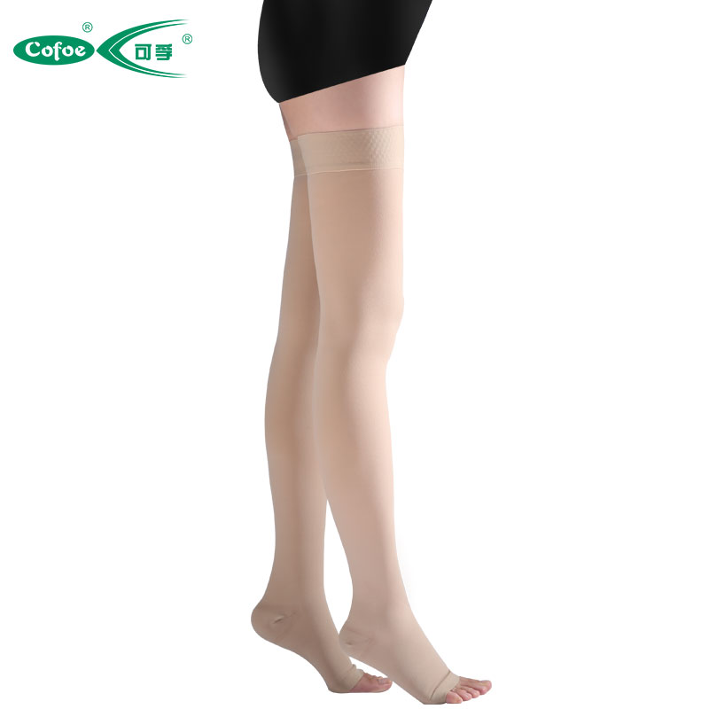 Cofoe A Pair Medical 2 Grade Varicose Veins Socks 23-32mmHg Pressure mid-calf length Socks Compression Bone Care Release Pain ombre circle calf length socks