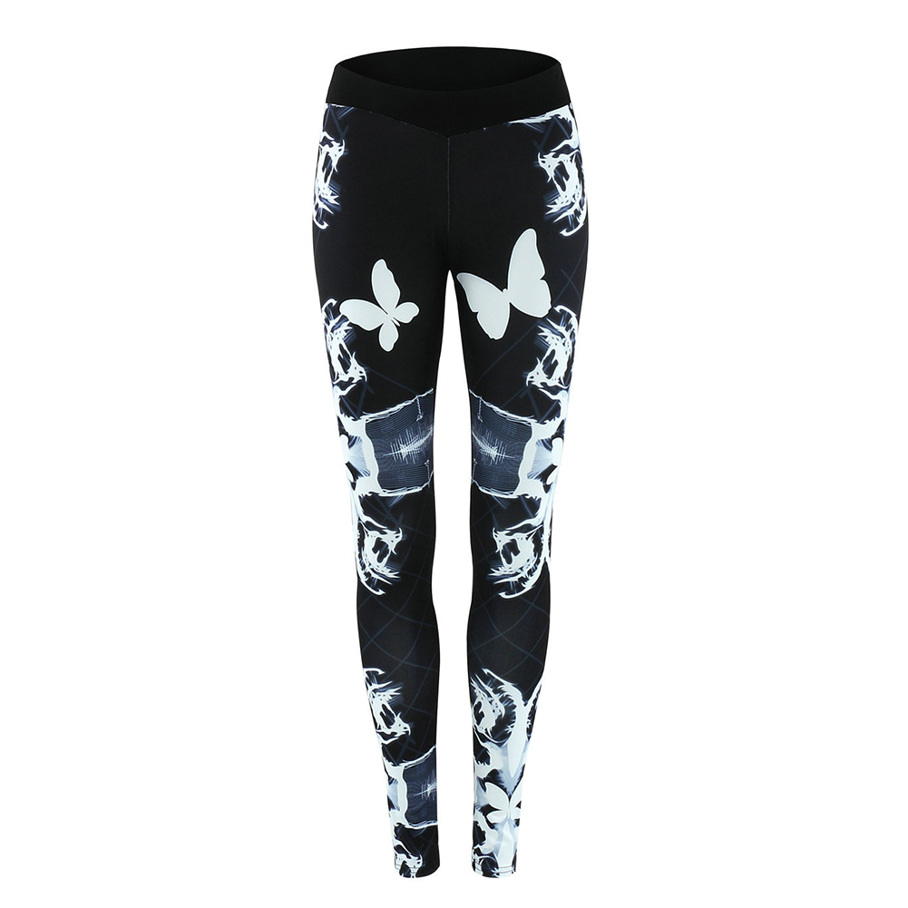 Breathable Women's Gym Yoga Leggings  Floral Prints Pants Running Fitness Trousers Outdoor Excercise Long Pants Tight Leggings 1