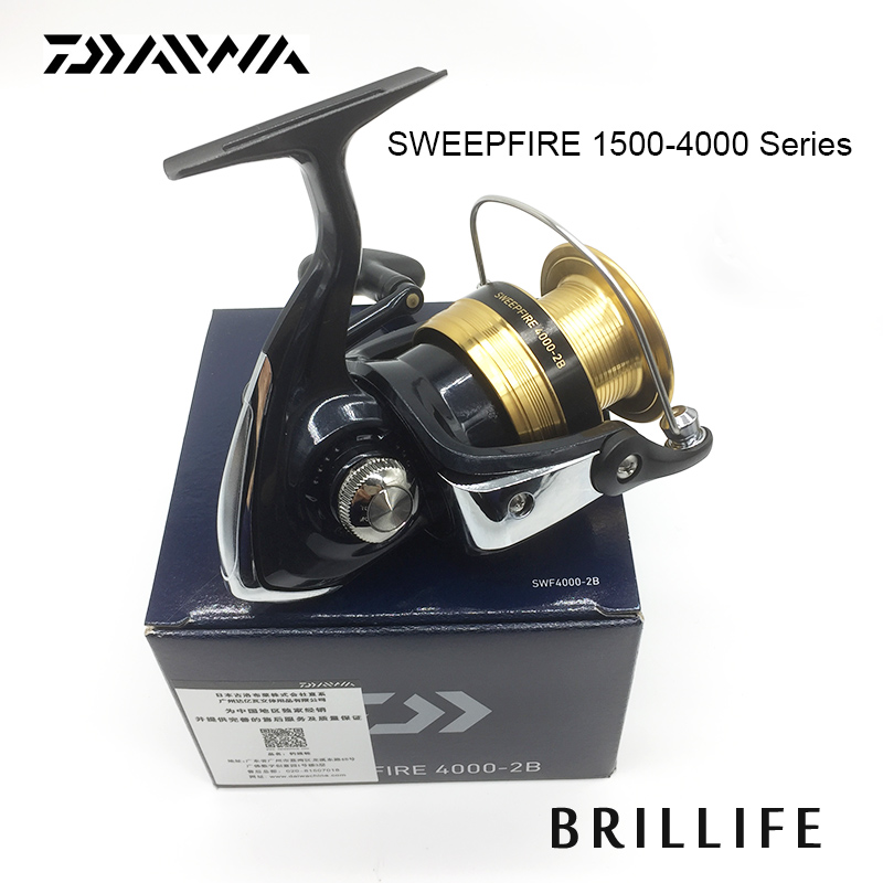 Daiwa SWEEPFIRE Spinning Fishing Reel 1500-4000 Series 2BB Fishing Reel professional spinning fishing reel