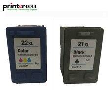 цена на einkshop for hp 21 22  Deskjet Remanufactured Ink Cartridge Compatible 3915  3920 D1320 D1455 F2100 F2280 F4180 printer