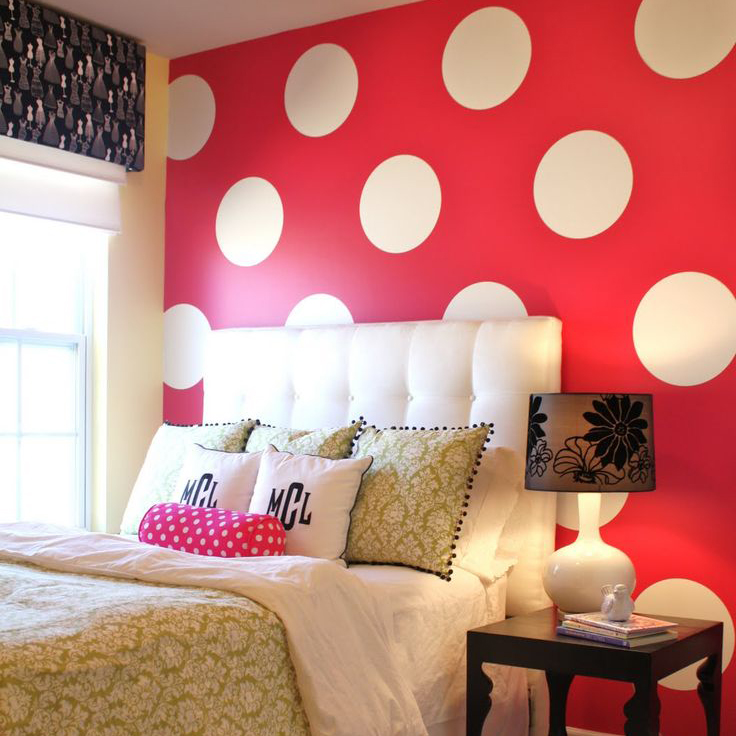 Big Polka Dots Wall Sticker, Dots Wall Decal Lasten huone, Big Dot Wall Tarrat lapsille, Vinyl Decal Home Decoration P2