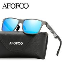 AFOFOO Aluminum Magnesium Men Polarized Sunglasses Brand Designer Square Driving Sun glasses UV400 Shades Goggles Eyewear