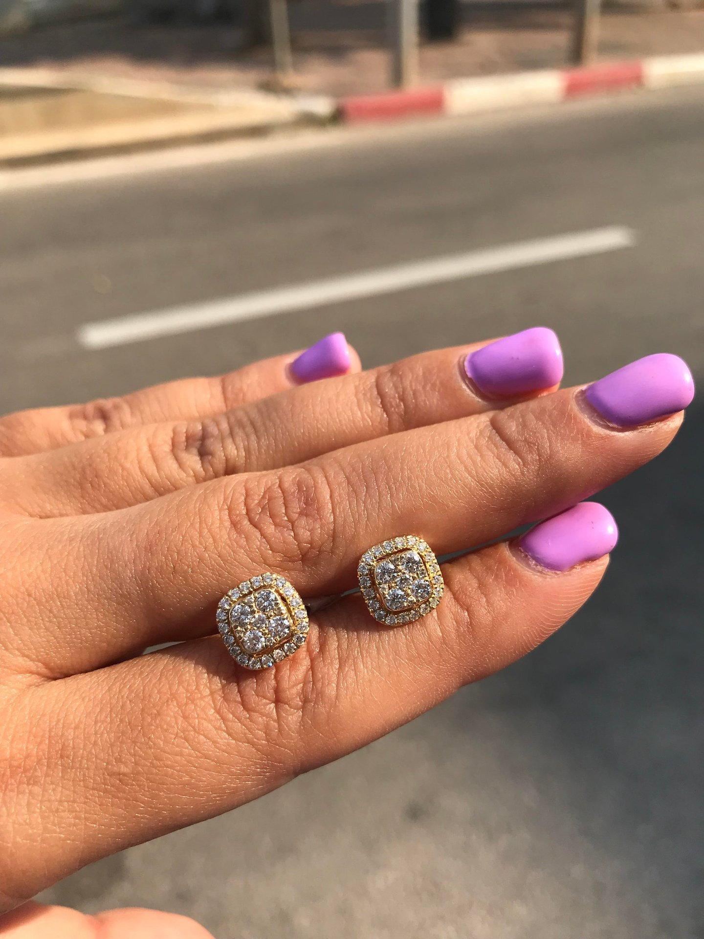 HTB1tsuAcvc3T1VjSZPfq6AWHXXaz Square Full 14K Rose Gold Jewelry Eight Hearts and Eight Arrows Garnet 14K gold Peridot Diamond Stud Earring Gemstone orecchini