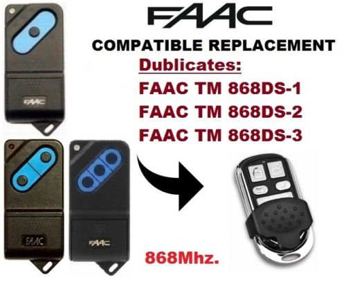 FAAC TM2 868DS Gate /& Garage Door Remote Transmitter Keyfob