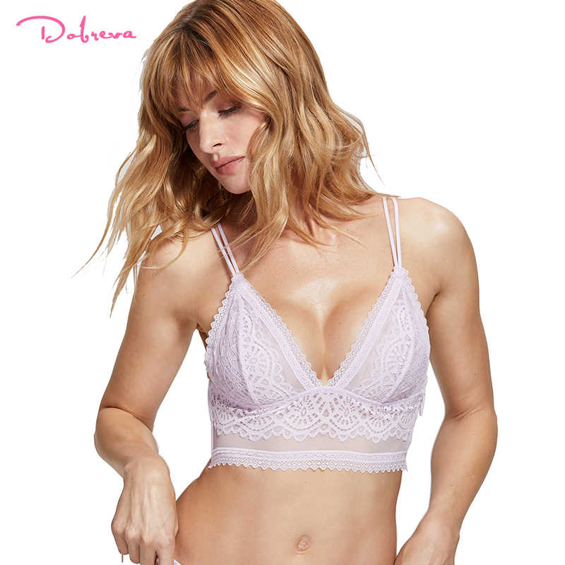 a753f4db4b6b3c Detail Feedback Questions about DOBREVA Women s Lace Bralette Wire ...