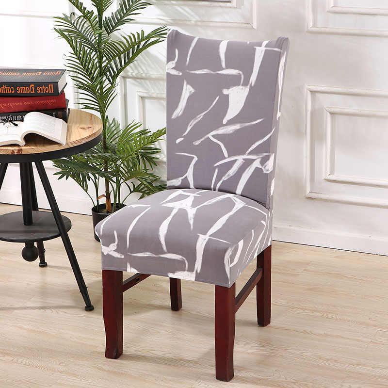 Cozinha Tampa de Assento Tampa Da Cadeira de Jantar Mobiliário Cadeira Slipcover Removível Preta Cobre Anti-Poeira Spandex Capas de Cadeira 1/ 2/4/6 Pcs