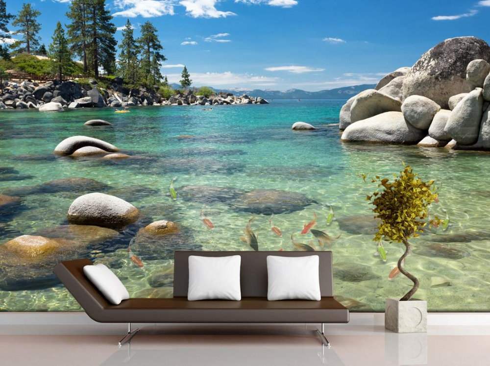 US $12.6 58% OFF|Home Decoration Stone lakes, children\'s bedroom 3d wall  murals wallpaper for kids room living style wallpaper-in Wallpapers from  Home ...