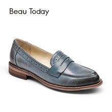 Beautoday Пенни бездельник Для женщин ручной работы из овечьей кожи Мокасины слипоны острый носок Туфли без каблуков Повседневные платья Пояса из натуральной кожи Обувь 27013