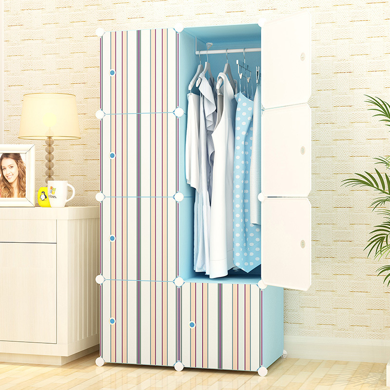 Wardrobe Bedroom Furniture Home Furniture plastic+steel storage cabinet clothes rack assembly closet multi size wholesale Гардероб