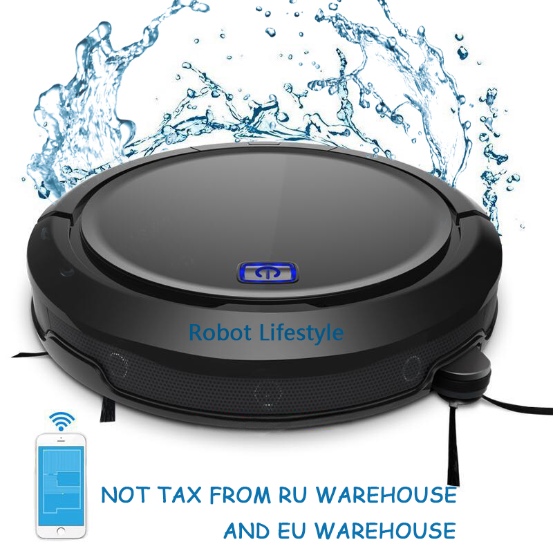 Auto robot acuum cleaner QQ9 with water tank extendable brush smart memory 3D Map navigation smartphone App control Intelligent image