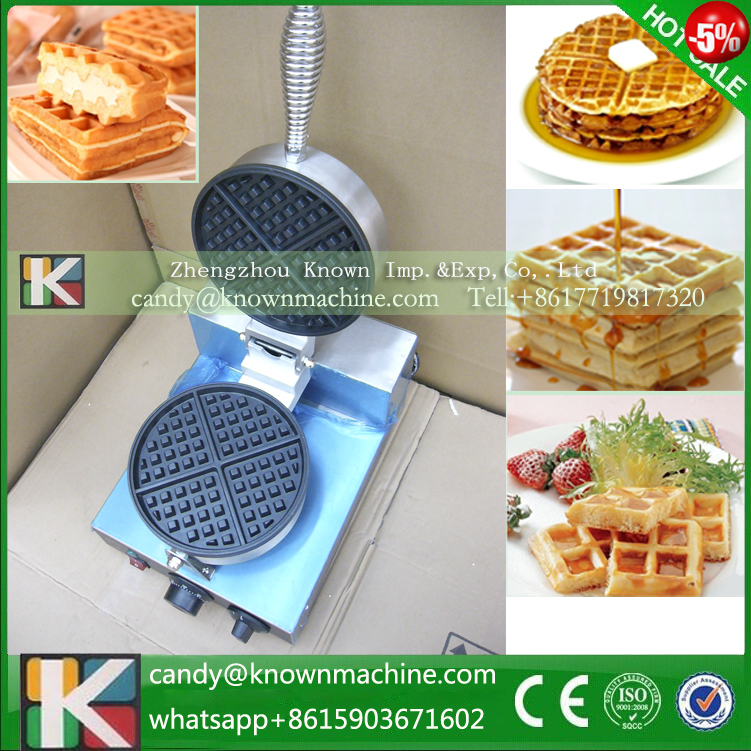 Free ship Single & double non-stick Waffle machine