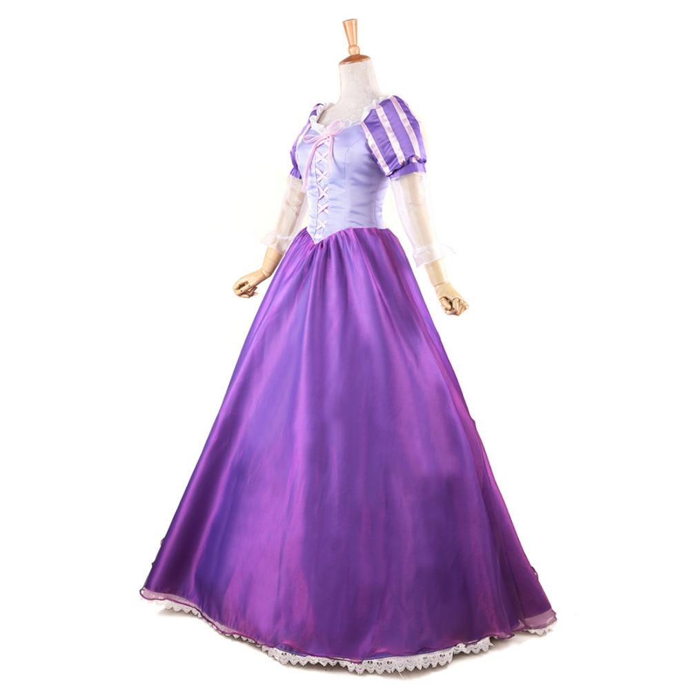 Tangled Princess Rapunzel Costume Fairytale Adult Fancy Dress Anime ...