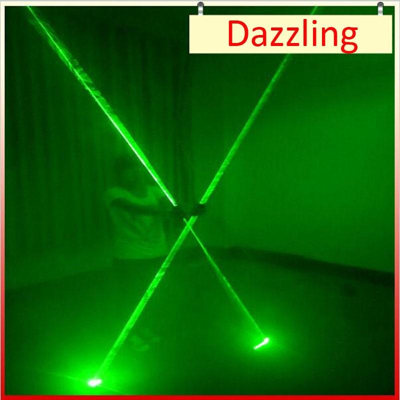 Z lumière led Vert Double Direction Vert Épée Laser Pour L'homme de Spectacle Laser 532nm 200 mW Double-Tête Large Faisceau laser articles de fête