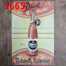 Drink Tin Signs  Metal Plate Wall Pub Kitchen Restaurant Home Art Man Cave Decor Cuadros A-5665