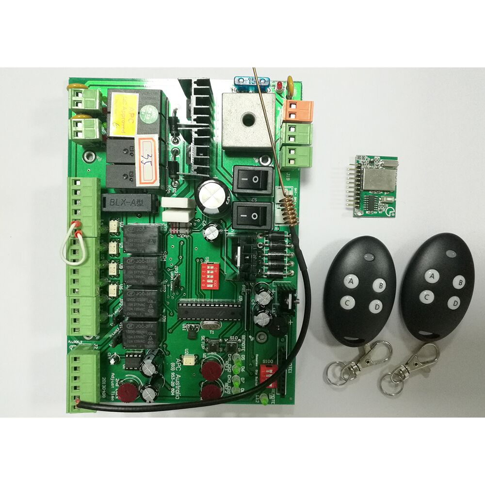 2 Actuators For Swing Gates Opener Control Panel With Fixed Code 433.93Mhz Remote Controllers