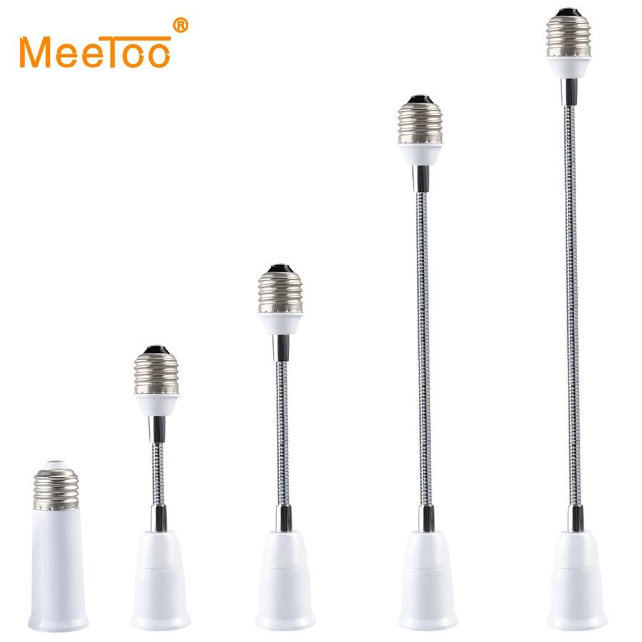Adaptador de soquete de parafuso da lâmpada flexível e27 para e27 led base titular 6/9/15/20/30/35/60cm extensão luz titular conversor montagem