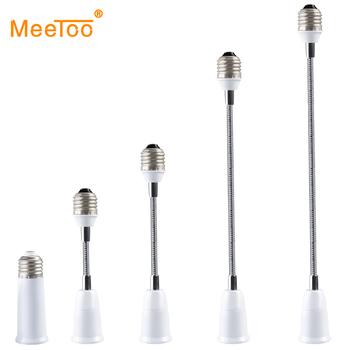 Elastyczne E27 do E27 podstawa do lampy LED uchwyt żarówki śruba adapter gniazda 6 9 15 20 30 35 60 cm rozszerzenia świecznik konwerter montażu tanie i dobre opinie Podstawy lamp Aluminium Metal Flexible Extension Bulb Adapter E27 to E27 Flexible Extend lamp Base ROHS MeeToo 1 year 6cm 9cm 15cm 20cm 30cm 35cm 60cm
