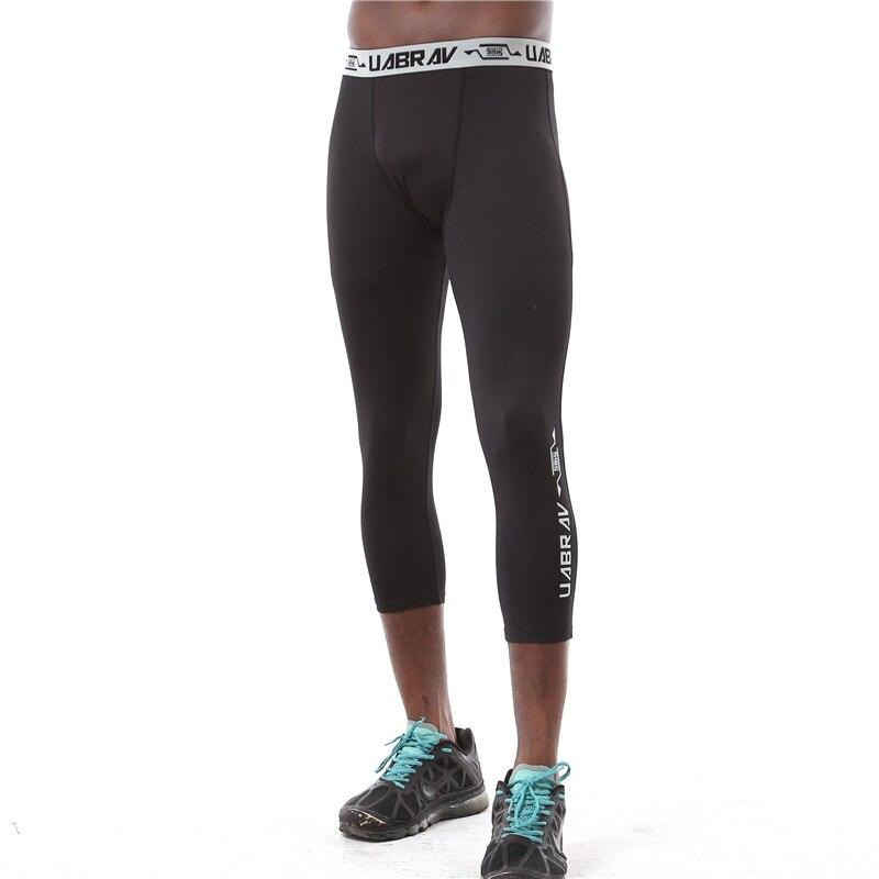 Running Leggings Men Basketball Tights Fitness Gym Bodybuilding Training Calf-Length Compression Leggings Sweatpants Men tights