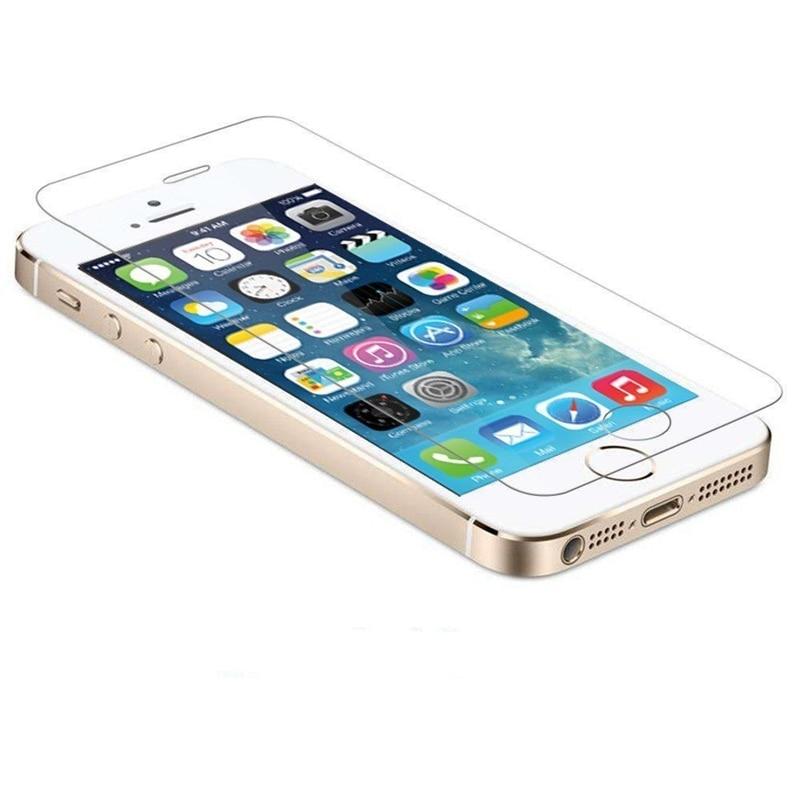 9 h 2.5d premium vidrio templado protector de pantalla para apple iphone 5 5S 6 s 6 7 templado película protectora teléfono móvil accesorios