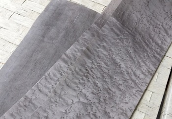 1Pieces. L:2.5Meters Wide:150mm  Thickness:0.25mm Dyeing Birdseye Wood Veneer (back Nonwoven fabric)