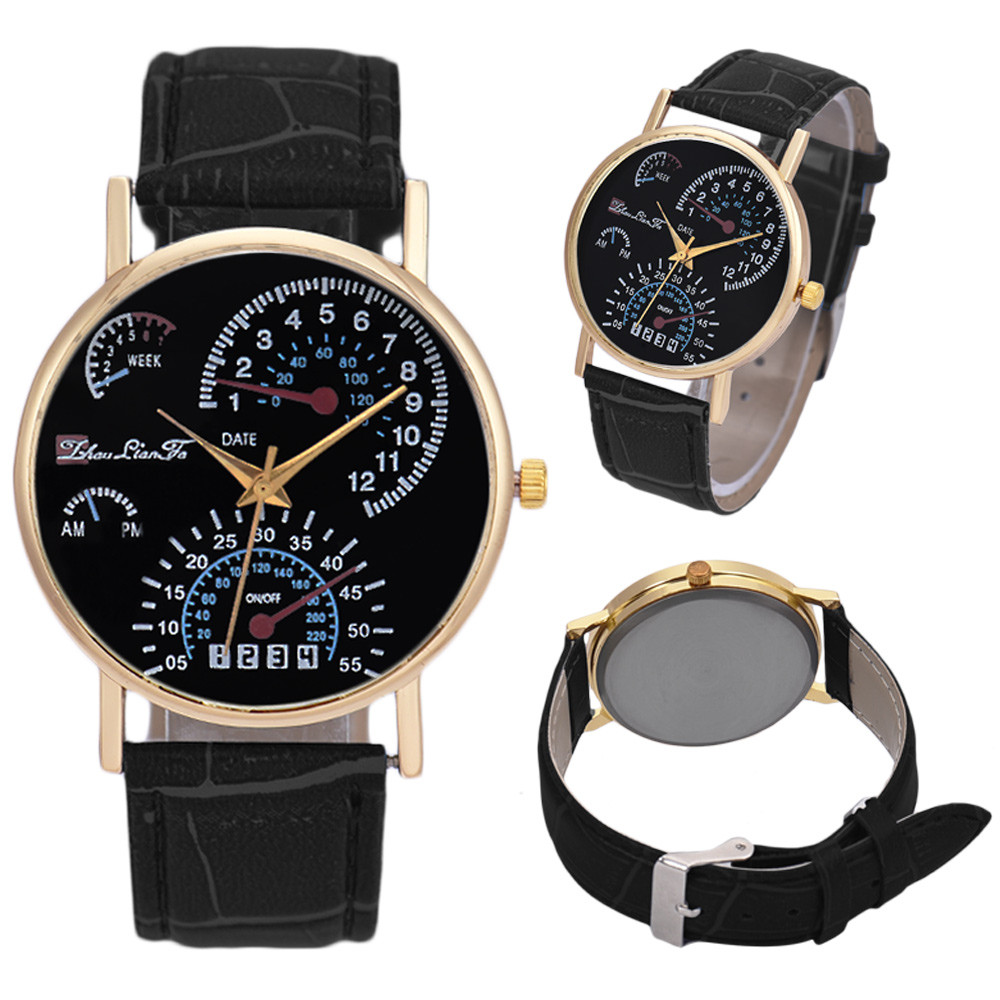 mens watches top brand luxury reloj hombre fashion printed