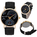 Mens Watches Top Brand Luxury Reloj Hombre Fashion Printed PU Leather Strap Analog Quartz Wrist Watch relogio masculino Clock