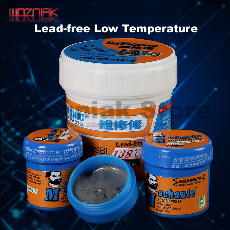 Original HK MECHANIC Lead-free Low-temperature Solder Paste CPU Repair Solder Paste BGA Nand 138degree Melting Point  Rosin Flux