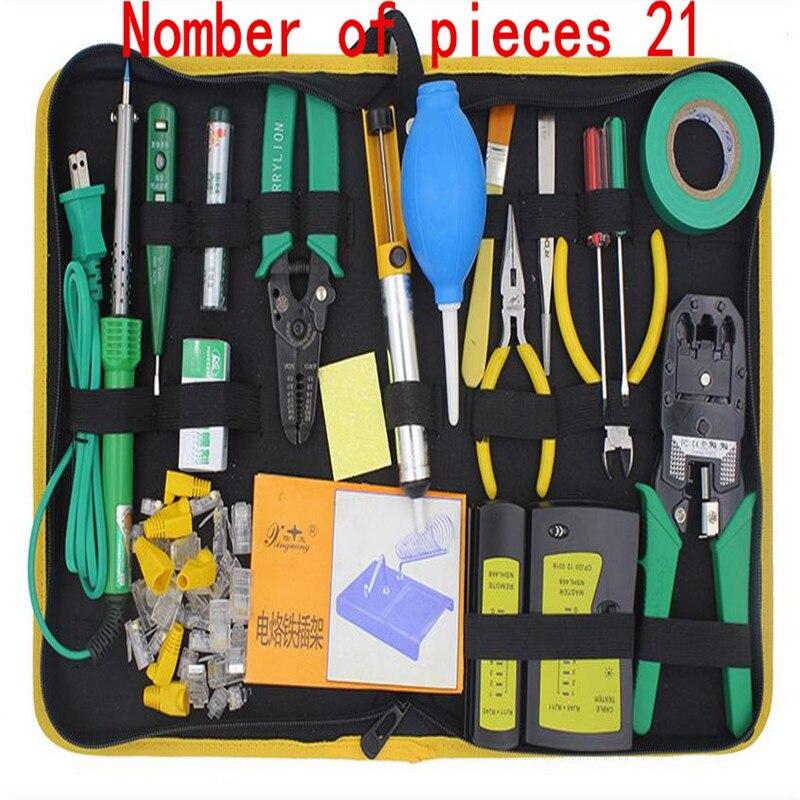 купить  Network Maintenance Tool Kit Needle-nose pliers crystal head RJ45RJ11 network cable tester  недорого