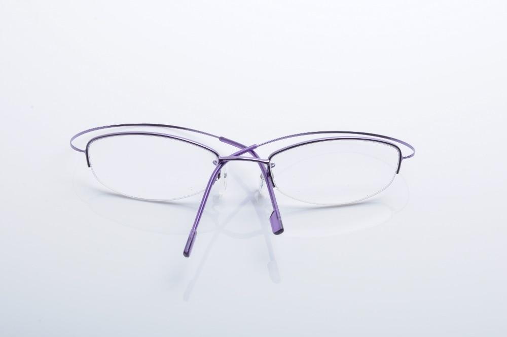 DEDING Women semi rimless eyeglasses Stainless Steel eyeglass frames ...